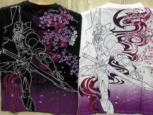 エヴァンゲリオンX錦コラボ 半袖Tシャツ 桜弐号機 EVA ×NISHIKI