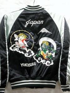 スカジャン 風神雷神 日本製本格刺繍のスカジャン