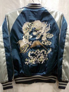 スカジャン 日本製本格刺繍のスカジャン3L 花龍