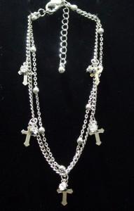 アンクレット クロス 十字架 ジルコニア Rock バンギャ V系 ロック 可愛い AN-423