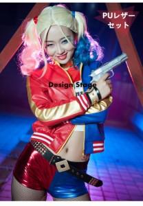 お得! スーサイド・スクワッド ハーレイ・クイン風 Suicide Squad Harley Quinn フルセット コスチューム  衣装 アニメ ハロウィン C349