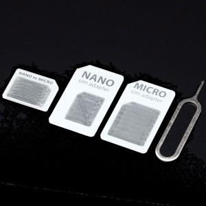 """nano micro SIM 変換アダプター ナノシム マイクロ iPhone"""