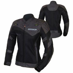 BENKIA  バイクジャケット レディース 女用 レーシング服 プロテクター装備 3シーズン バイクウェア 耐磨 防風通気 防水 メッシュ