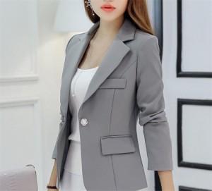 31071101e56a8 S-2XL 3色テーラードジャケット 一つ紐 大きいサイズ アウター レディース 通勤 ジャケット 夏秋 制服 オフィス 春