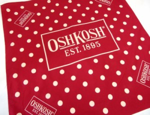 """Osh-Kosh オシュコシュ ドット バンダナ(赤) 【中古】【メール便可】"""