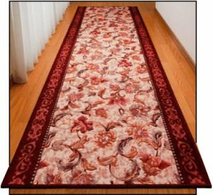 抗菌・防臭加工 オリエンタル更紗柄 カービング廊下敷(80cm×440cm)