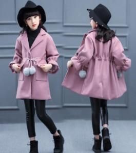 DM 春秋 韓国子供服 女の子 可愛い トップス 結婚式 コート ナイロンコート キッズ アウター女の子 ヘアリーコート SW616