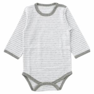 5dcad36c8df5e ベビー服 赤ちゃん 服 ベビー ロンパース 男の子 70 80 90 ボーダー長袖かぶりロンパース