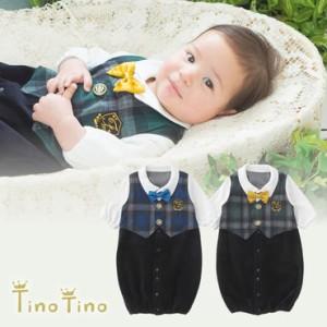875d1b19f1630 ベビー服 赤ちゃん 服 ベビー ツーウェイオール 男の子 結婚式  ティノティノ 見せかけベストフォーマル新生児