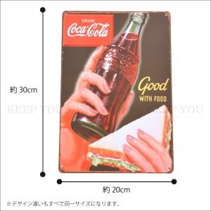 【メール便250円対応】ブリキ看板 コカコーラ 20×30cm ビンテージ メタルサインプレート カフェ バー アメリカン ティンサイン ┃