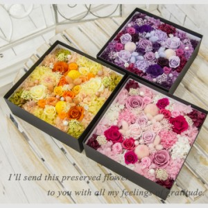 【送料無料】プリザーブドフラワー 超豪華ボックスアレンジ 大 母の日 誕生日 記念日