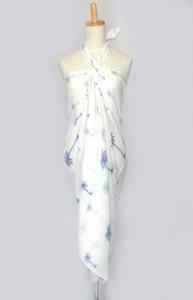 1a514f2f0b0 ホワイト パレオ タヒチアンダンス マリブ インド綿 水着 の上に タヒチアン 大判 マルチクロス 巻き