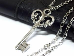 デカ可愛い鍵ネックレス キー Key シルバー 【メール便送料無料】 バンギャ V系 ロック ゴスロリ Rock M-172