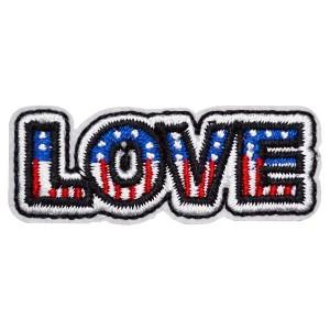 ワッペン アップリケ 刺繍ワッペン 手芸 ハンドメイド 縦1.7cm×横4.5cm LOVE ラブ アルファベット 英語【メール便可】