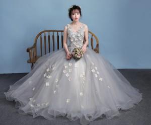 fa4bc486ad2f2 カラードレス 優雅 ロングドレス チュールスカート エレガント パーティードレス ウェディングドレス 演出 発表会 演奏