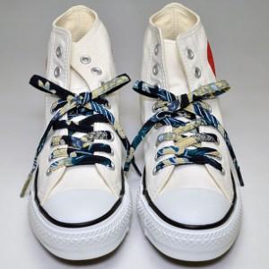 メール便 和柄靴ひも 柄多数ちりめん靴紐ノーマル おしゃれなメンズレディーススニーカー
