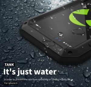 b568af3354 iPhoneX ケース 金属 iPhoneX 対応 ケース カバー アルミ 軍用防塵耐衝撃ケース アウトドア 生活防水