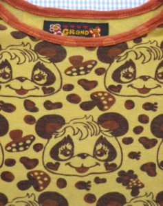 グラグラ GRANDGROUND 130cm Tシャツ 半袖 パンダ 美品 黄色系 女の子 キッズ 子供服