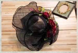 ★送料無料★お得なハットフラワーチュールレース 咲花髪飾り ウェディングアクセサリー 花嫁 成人演奏会 BY-055