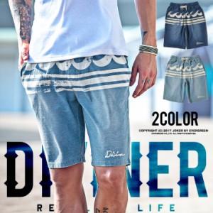 スウェットデニム ショートパンツ メンズ スウェットデニム スウェットパンツ スウェット カットデニム ショーツ DIVINER trend_d
