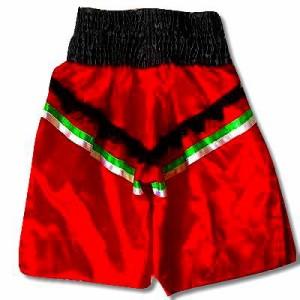 新品 サテン 103 LUMPINI ボクシング パンツ S/M/L/XL 選択 K1赤V黒ひげ /ムエタイ/トランクス/通販/大人/キッズ/ジュニア/子供