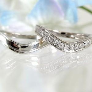 ダイヤモンド ホワイトゴールド ペアリング 結婚指輪 マリッジリング 2本セット K18wg 指輪 ダイヤ 0.15ct