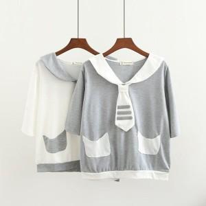 レディースカジュアルTシャツ☆ 学院風 Tシャツ Tシャツ ガールズ トップス Tシャツ レディースTシャツ 着心地いい