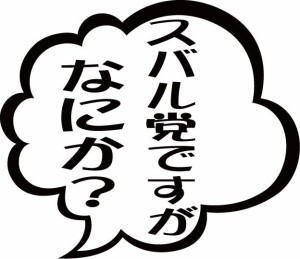 カッティングステッカー 〜 スバル党ですがなにか?  (2枚1セット) 〜 車 バイク スバリスト カッコイイ ワンポイント カスタム (TY)
