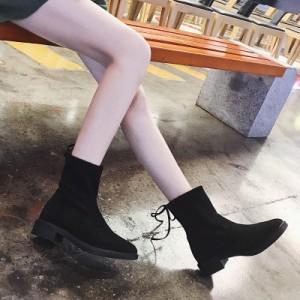 秋冬 ブーツ 女 シングルブーツ フラット 新しいデザイン A56910-6565312