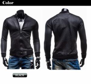 PUライダースジャケット メンズファッション アウター メンズ パーカー ジャンパー・ブルゾン レザージャケット