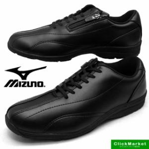 [送料無料]ミズノ MIZUNO LS400 ウォーキング カジュアル 153009 黒 4E メンズ