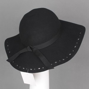 [MA8300450] 女優帽 つば広 ツバ広 フェルトハット ガルボハット 5色展開
