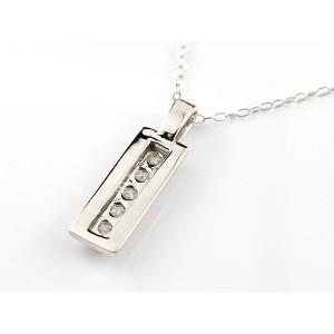 プラチナ ネックレス メンズ ダイヤモンド バータイプ ペンダント チェーン 人気 4月誕生石 pt900 男性用