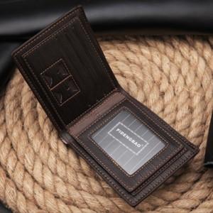 送料無料  多機能 二つ折り メンズ 財布 パスケース付き  大容量 カード10枚