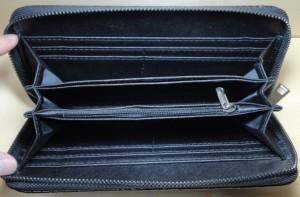 長財布 メンズ クロコダイル 型押し 送料無料 クロコ型押し カード入8枚 フリーポケット3ケ所(間仕切り)