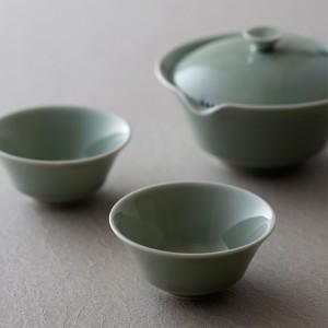 WDH 宝瓶 急須と湯呑のセット 茶器 茶道具 日本製 桐箱入り / 結婚祝い プレゼント ギフト