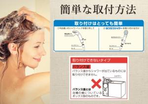 【送料無料】【1家庭1台限り】【お試し】医薬品を扱う会社が考えたお肌と髪に優しい国産浄水シャワーヘッド「はつらつシャワー」
