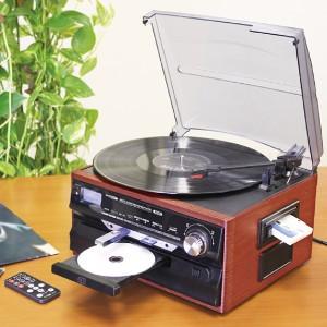 ★「マルチオーディオシステム 1台」[送料無料]思い出のレコードもデジタル音源もマルチに録音&再生!CD・カセットテープ・SD&USB対応