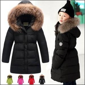 即納 送料無料女の子コート子供ダウンコートキッズ冬防寒コートグロング キッズ冬ロン女児 ダウンジャケット