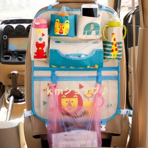 自動車収納バック・お子様のお荷物を簡単に収納♪ライオン柄