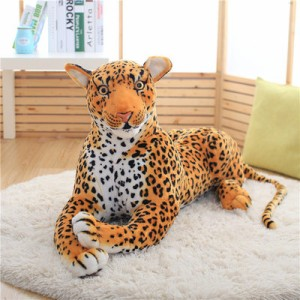 ぬいぐるみ猛獣 アメリカ豹  動物ぬいぐるみ 抱き枕 女 クリスマス 贈り物  店飾り 巨大  おもちゃ110cm