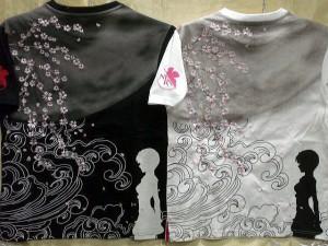 エヴァンゲリヲン X錦コラボ半袖Tシャツ 月と綾波レイ