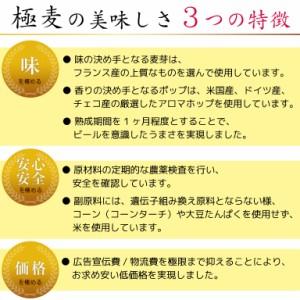 新ジャンル 極麦プレミアム糖質オフ 350ml×6本入 お試しセット【送料無料】 第3のビール