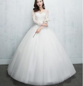 長袖レース☆品質良い フォーマル ブライズメイドドレス/パーティードレス結婚式二次会 高級