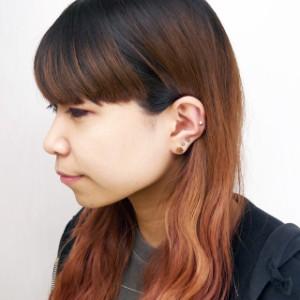 ステンレスピアススノークリスタルステンレスピアス(両耳用)金属アレルギー 316L