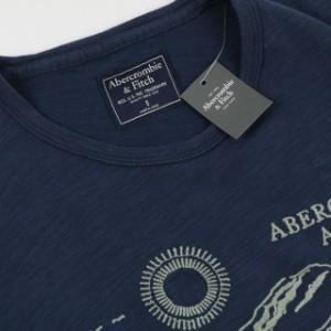 アバクロンビー&フィッチ Abercrombie & Fitch S size メール便で送料無料 半袖Tシャツ S/S T-Shirt  ネイビー メンズ 正規品