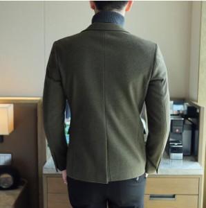 韓国スタイル ラシャコート 学生 ハイエンド  上着 ★シングルコート 通勤 ジャケット 着痩せ 無地 テーラードジャケット