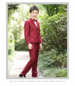 4e4489dbd9ccf 安い 卒業式 フォーマルスーツ レッド☆5点セットキッズ 子供スーツ 成人式 大人気