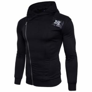 メンズニット カーディガン セーター ロング丈 フード付き メンズアウター 偽2点 ポッケト付き 防寒性優れた 秋にぴったり