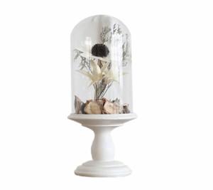 MIZ アレンジ済 手軽な造花インテリア花器セット オブジェ フラワーアレンジメント アンティークナチュラルA 小